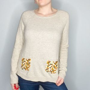Moth | Pullover colorful dot pocket sweater | M